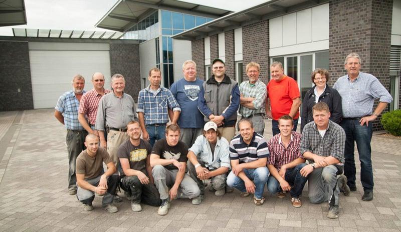 Das Team der Bauunternehmung Steinberg in Coesfeld